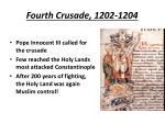 fourth crusade 1202 1204