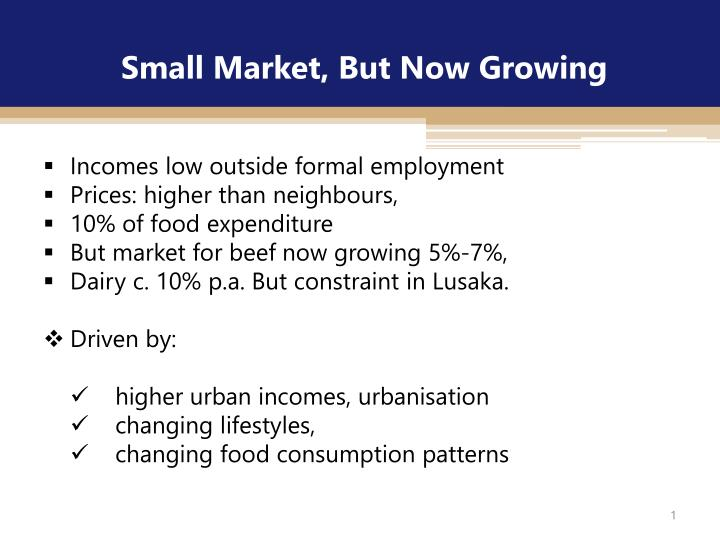 small market but now growing n.