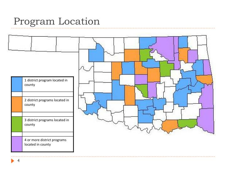 1 district program located in county