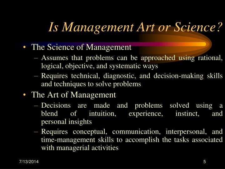 Is Management Art or Science?