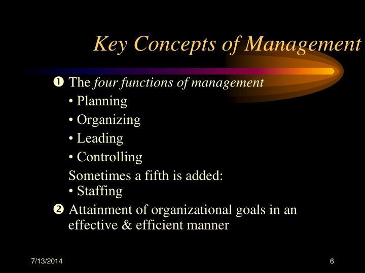 Key Concepts of Management