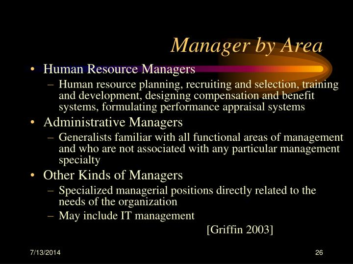 Manager by Area