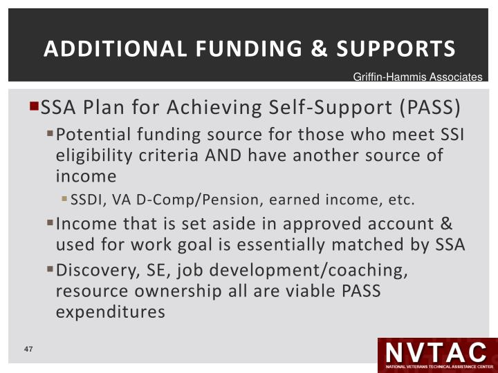 ADDITIONAL FUNDING & SUPPORTS