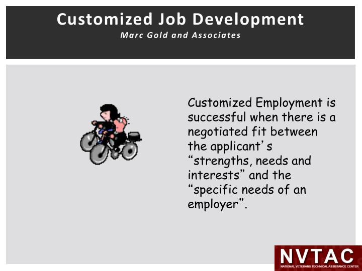 Customized Job Development