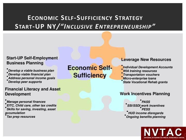 Economic Self-Sufficiency Strategy