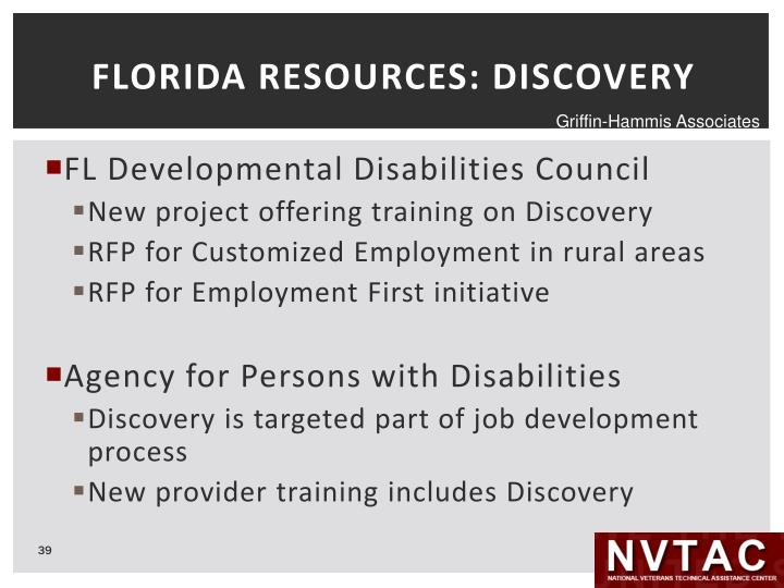 FLORIDA RESOURCES: DISCOVERY