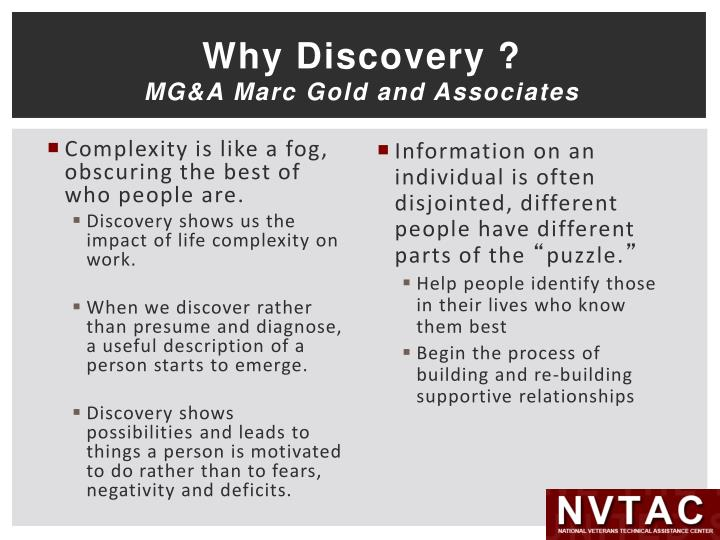Why Discovery ?