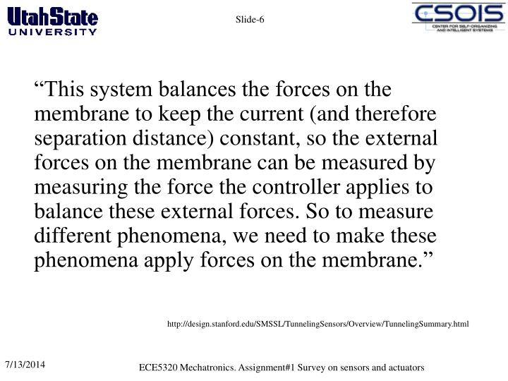 """This system balances the forces on the membrane to keep the current (and therefore separation distance) constant, so the external forces on the membrane can be measured by measuring the force the controller applies to balance these external forces. So to measure different phenomena, we need to make these phenomena apply forces on the membrane."""
