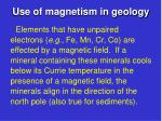 use of magnetism in geology