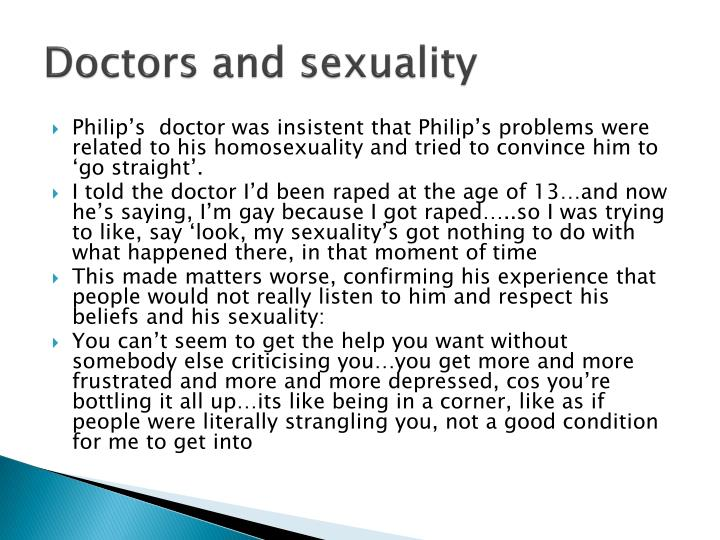 Doctors and sexuality