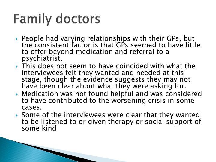 Family doctors