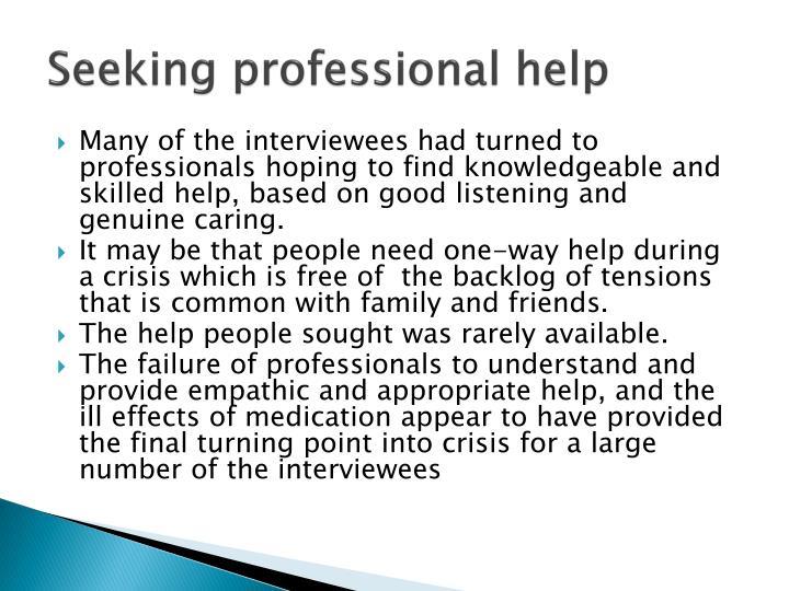 Seeking professional help