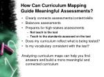 how can curriculum mapping guide meaningful assessments