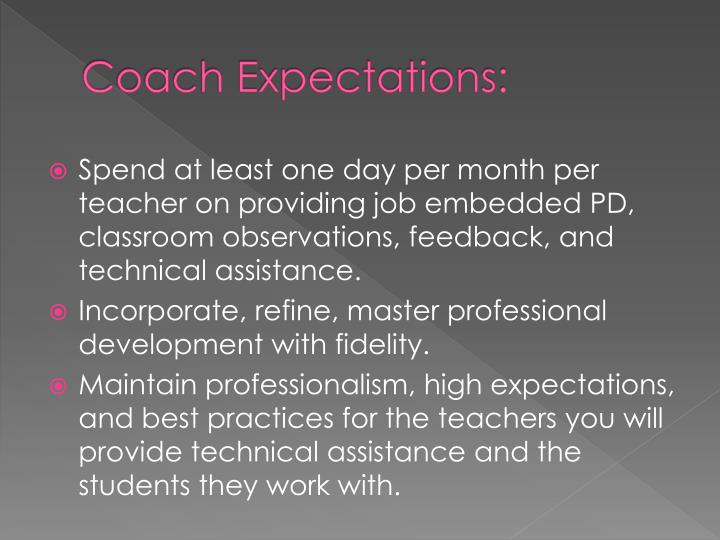 Coach Expectations: