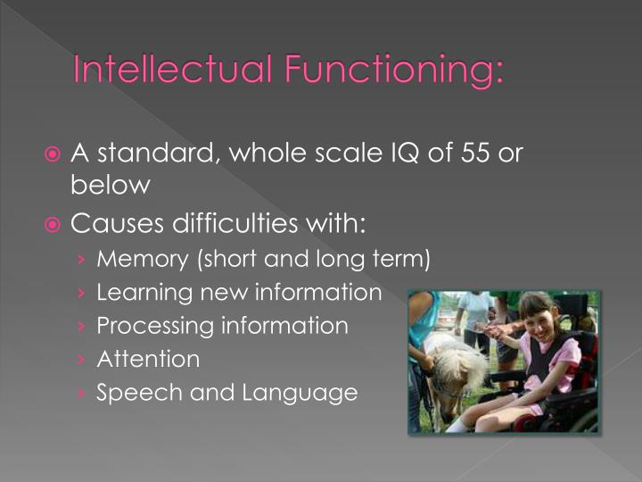 Intellectual Functioning: