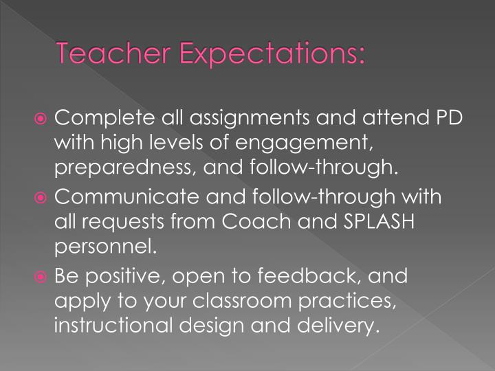 Teacher Expectations: