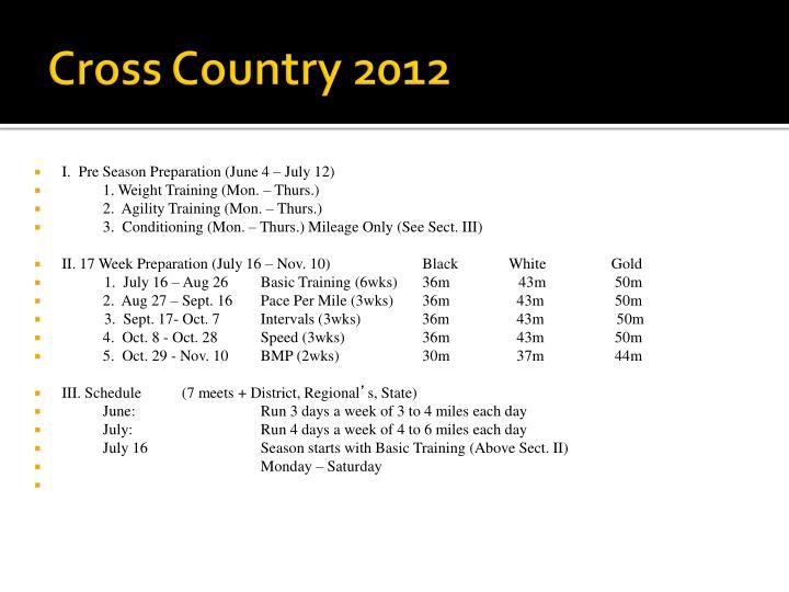 Cross country 2012