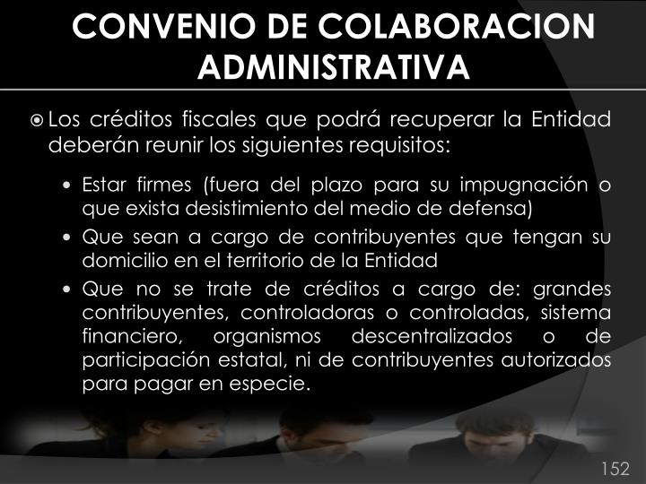 CONVENIO DE COLABORACION ADMINISTRATIVA