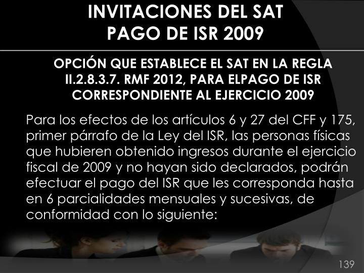 INVITACIONES DEL SAT