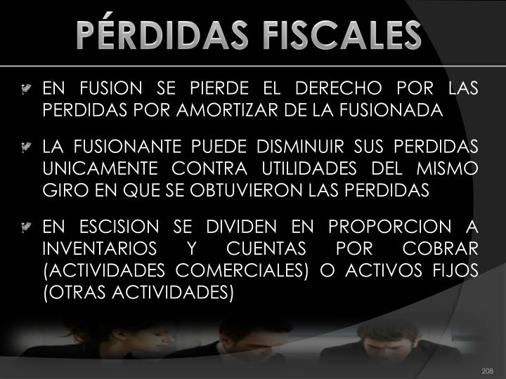 PÉRDIDAS FISCALES