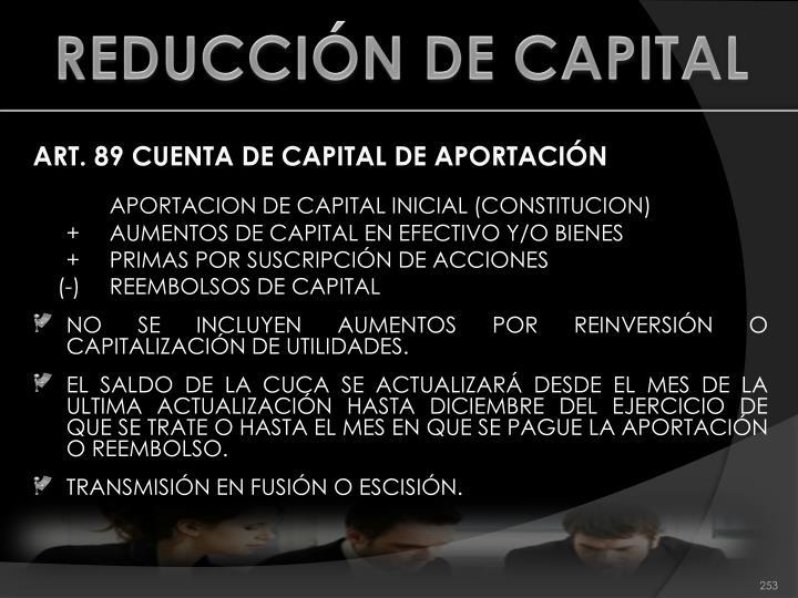 REDUCCIÓN DE CAPITAL