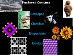 factores comunes