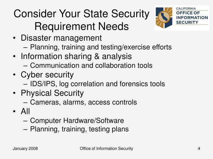 Consider Your State Security Requirement Needs