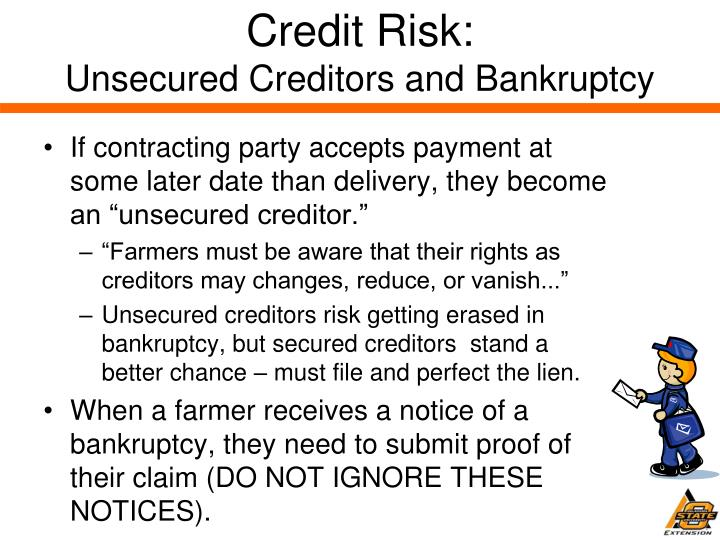 acic how to become a unsecured creditor