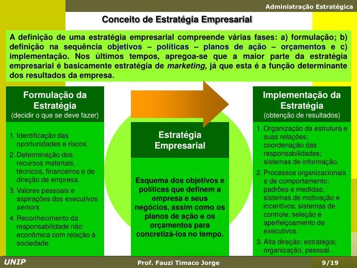 Conceito de Estratégia Empresarial