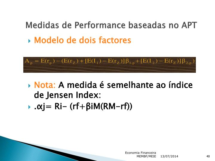 Medidas de Performance baseadas no APT