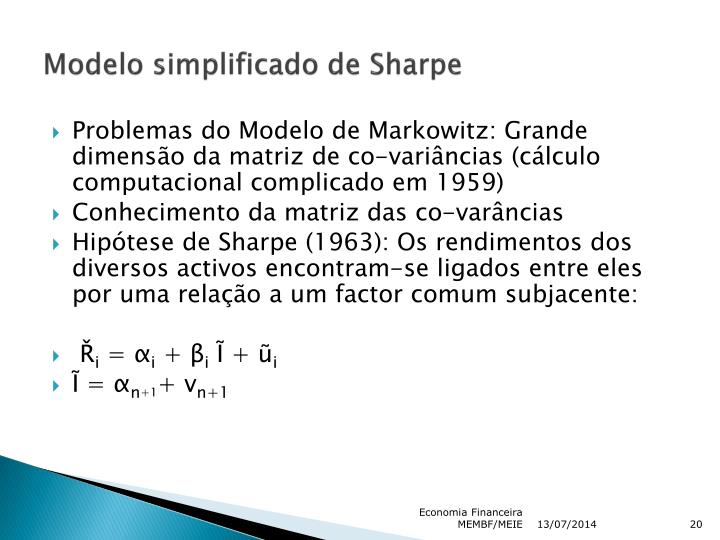 Modelo simplificado de Sharpe