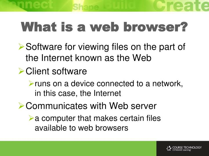What is a web browser?