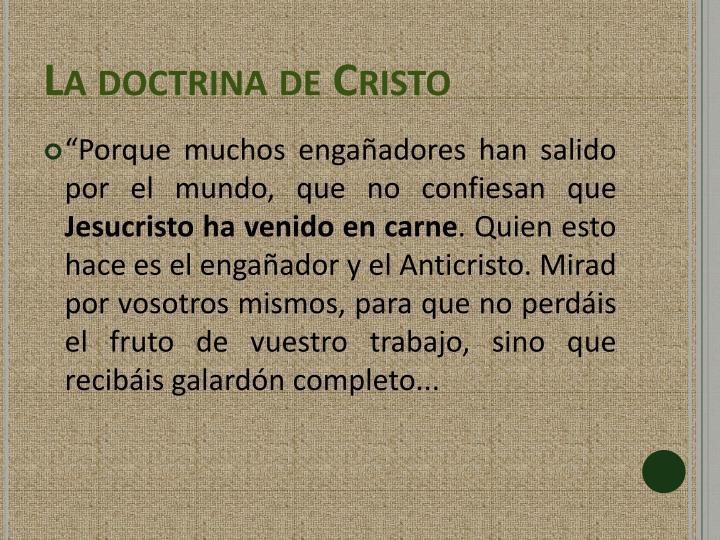 La doctrina de Cristo