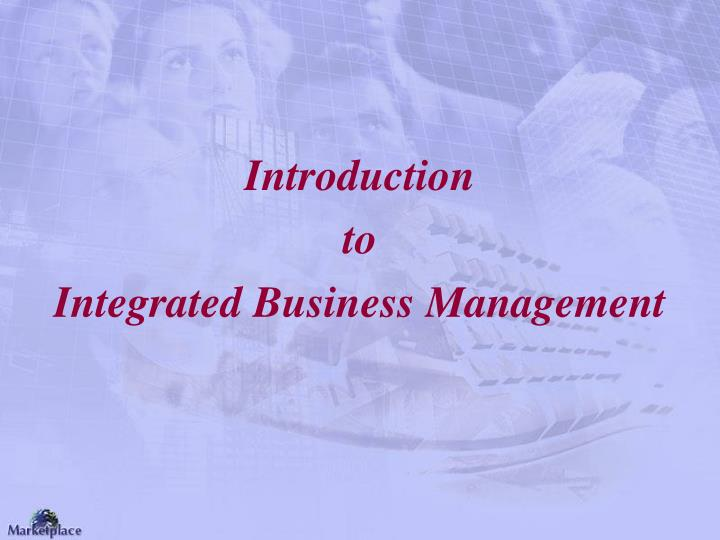 Introduction to integrated business management