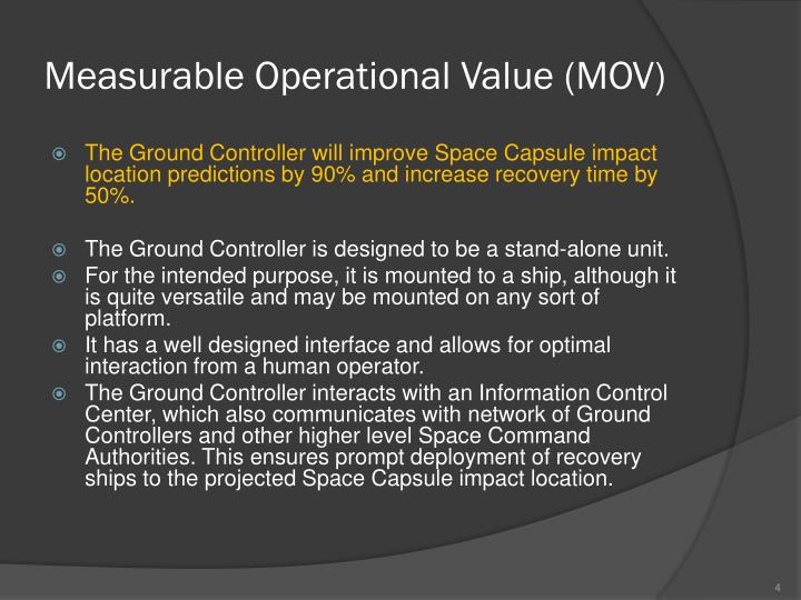 Measurable Operational Value (MOV)