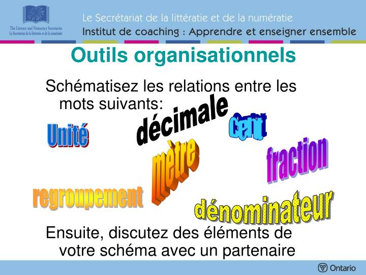 Outils organisationnels