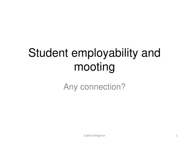 student employability and mooting n.