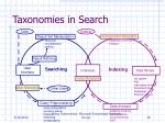 taxonomies in search