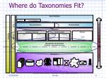 where do taxonomies fit