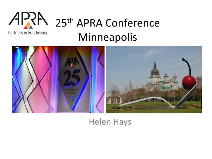 25 th apra conference minneapolis n.