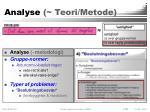 analyse teori metode