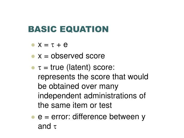 Basic equation