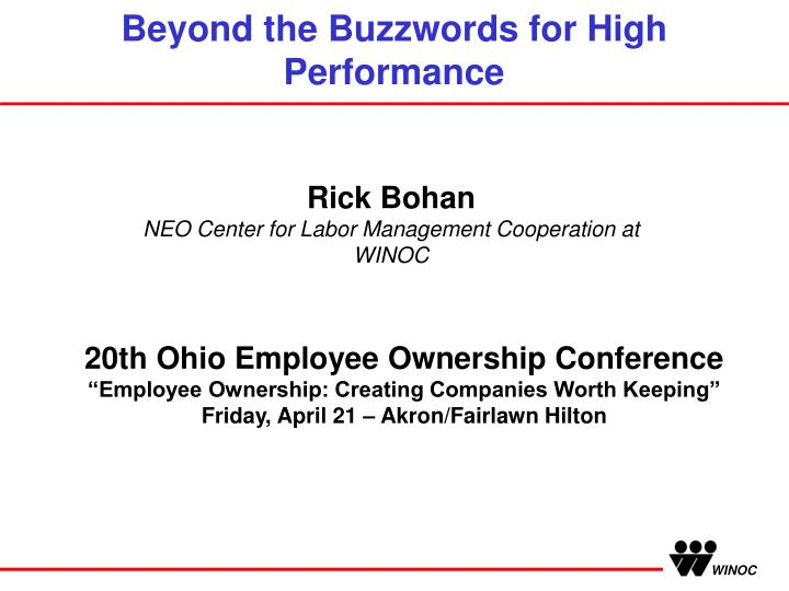 beyond the buzzwords for high performance n.