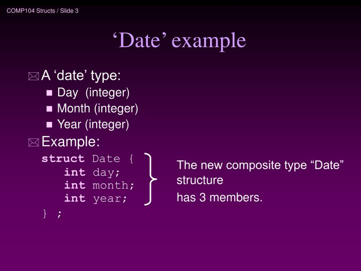 Date example