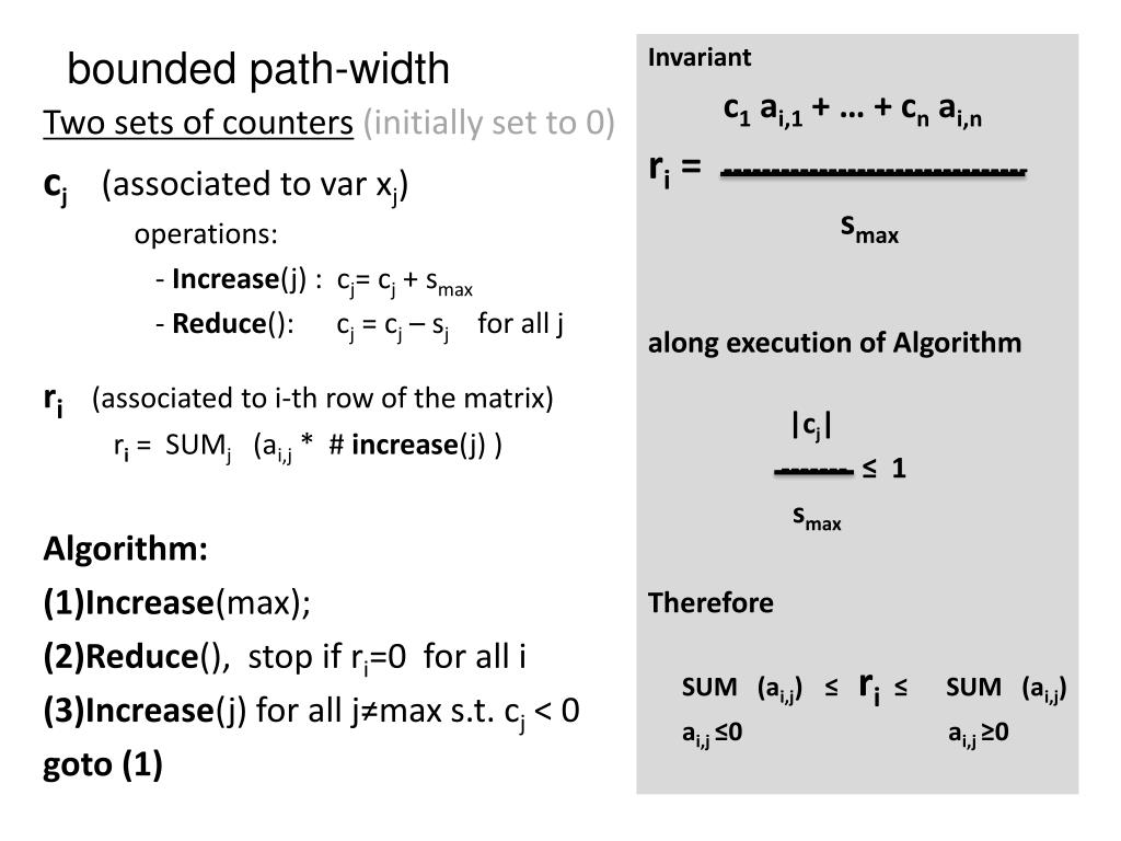PPT - The Tree-Width of Decidable Problems PowerPoint