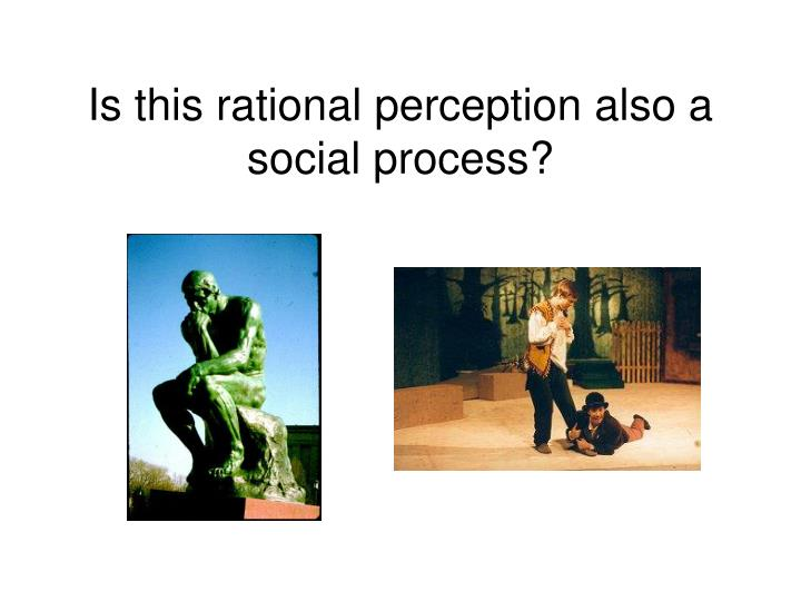 Is this rational perception also a social process?