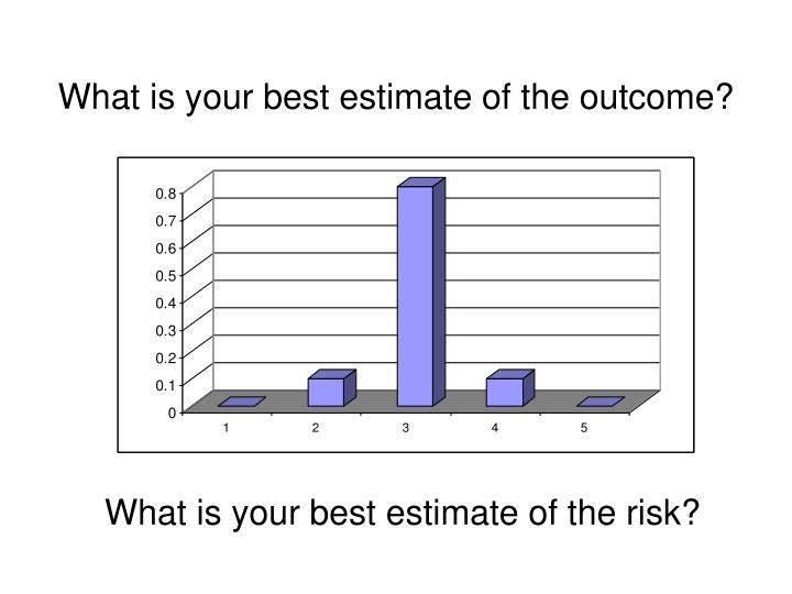 What is your best estimate of the outcome?