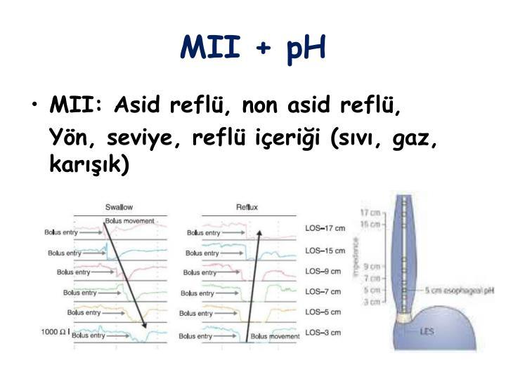 MII + pH