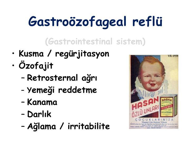 Gastroözofageal