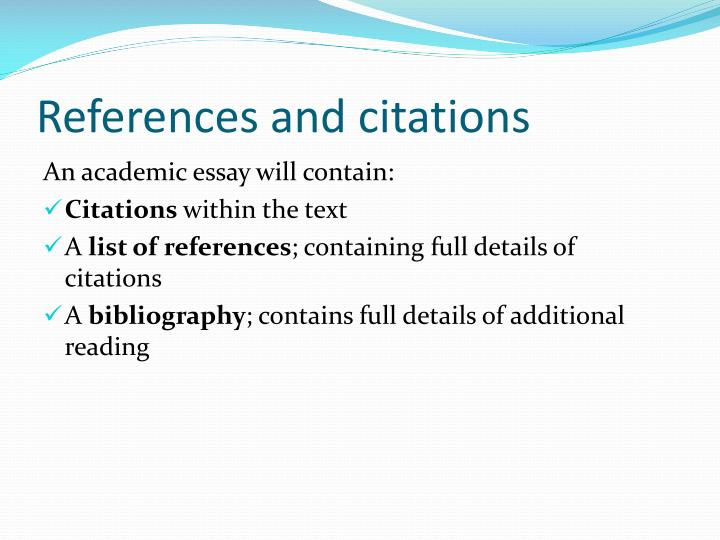References and citations